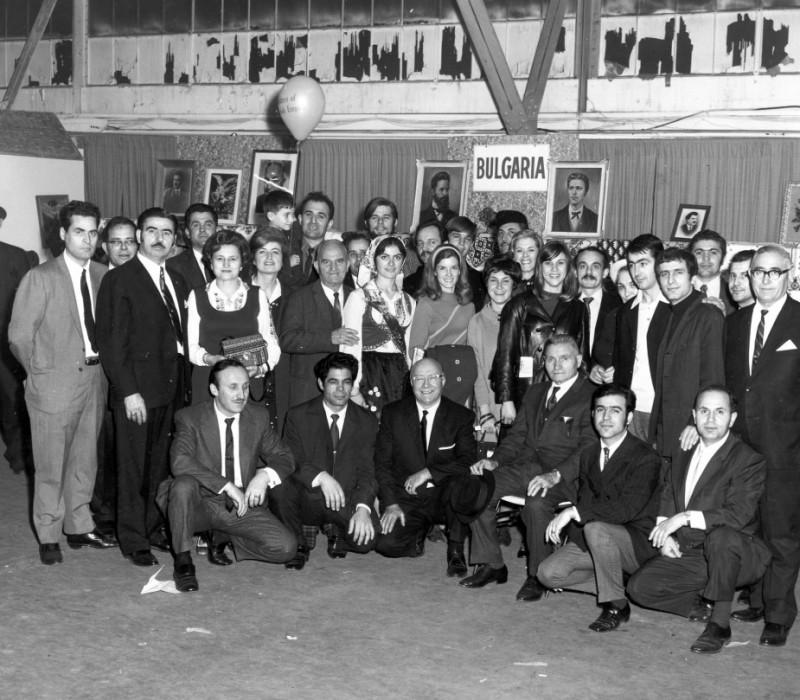 Представяне на Българския национален комитет в Изложението на националностите, Чикаго, Navy Pier, ноември 1968