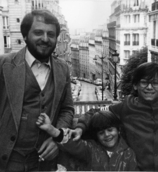 Fil Filipov and his children, Nadia and Steve, Paris, 1980